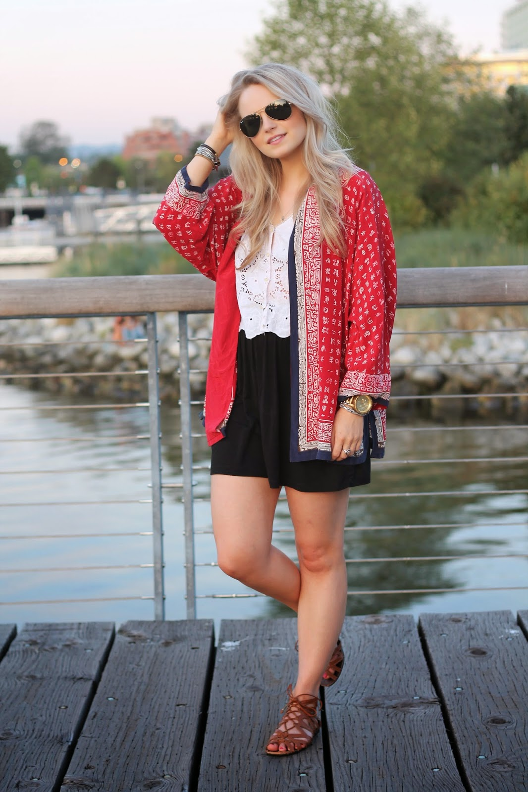 simple boho kimono for date night