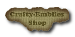 I Love to Shop at Crafty-Emblies Shop