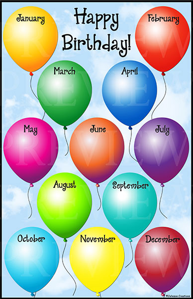 Birthday Chart Printable Chart | New Calendar Template Site