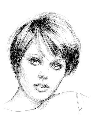 custom portrait, ink on paper, Igor Amazonenco