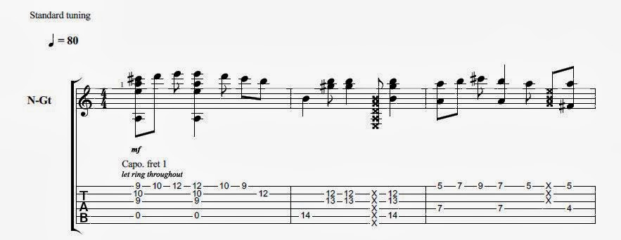 Dance With My Father Fingerstyle : Rare Guitar Tabs