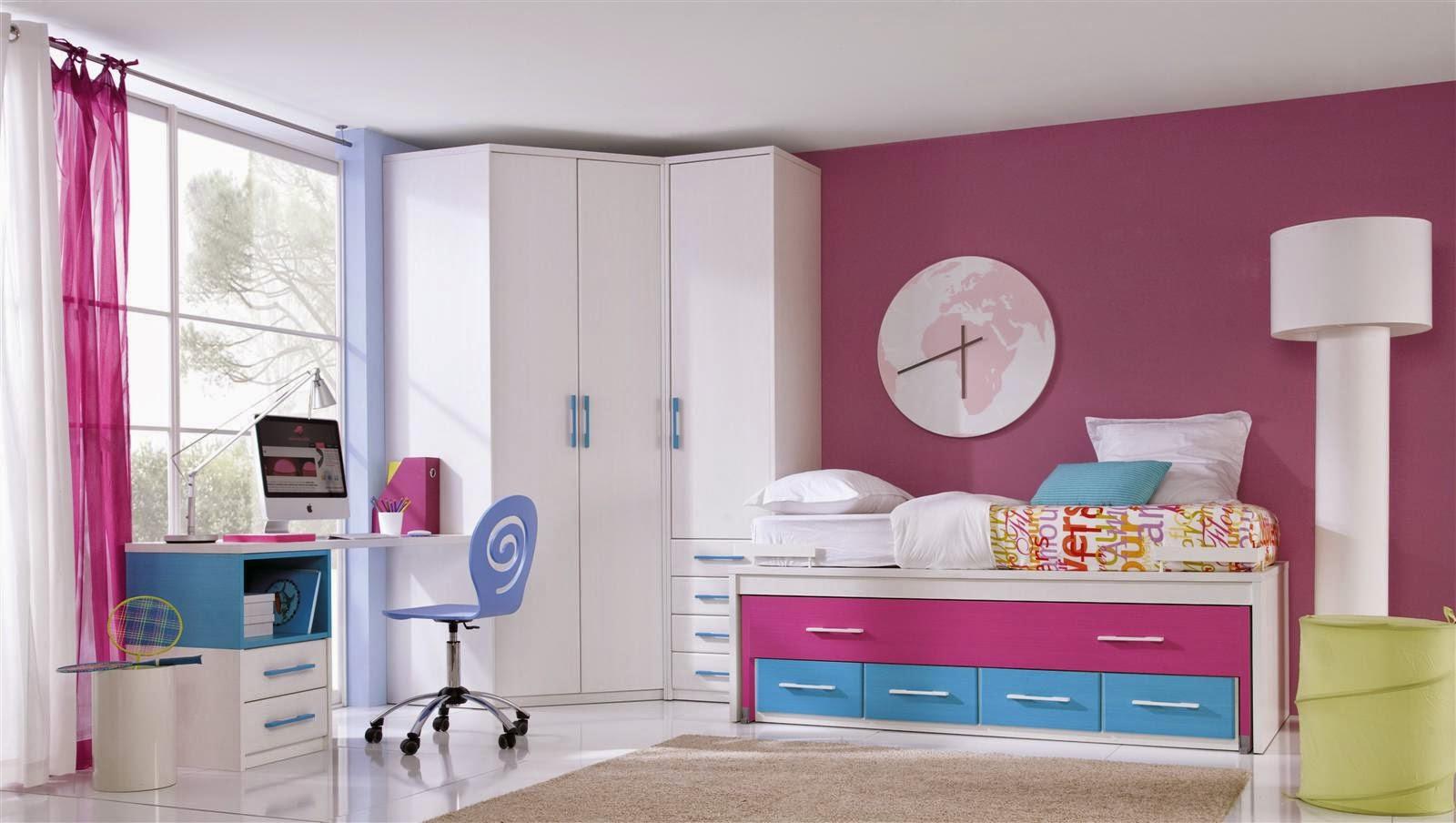 Dormitorios juveniles i elegir una cama compacta - Cama con escritorio abajo ...