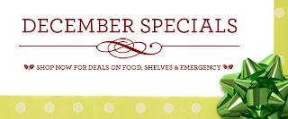 December Shelf Reliance Specials