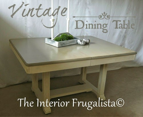 Vintage Dining Table Makeover