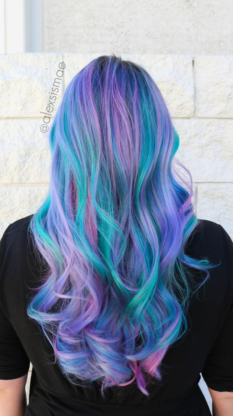 Color Correction Mermaid Green Ombre Modern Salon Of