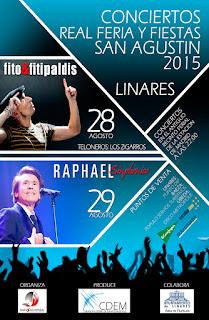 Linares - Feria de San Agustín 2015 - Programa de Conciertos