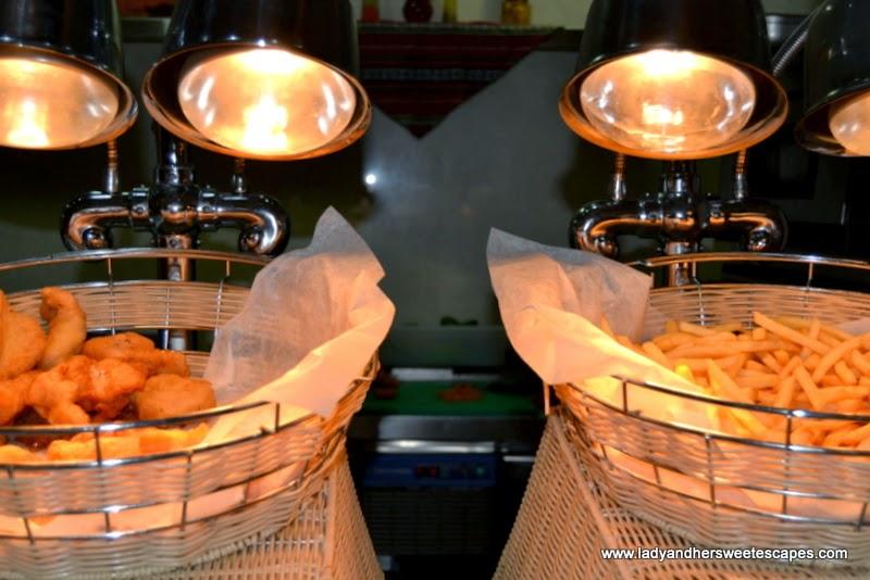 fish and chips at Al Murjan in Oceanic Hotel