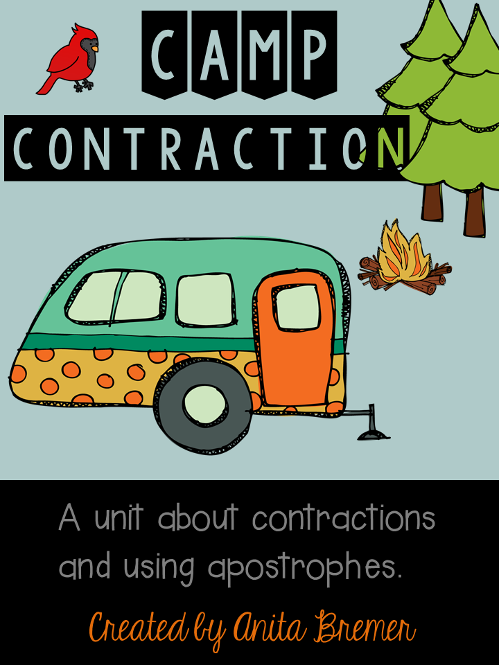 https://www.teacherspayteachers.com/Product/Camp-Contraction-A-unit-about-contractions-and-using-apostrophes-1782974