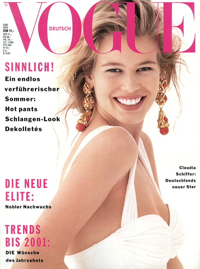 Claudia Schiffer in Vogue Germany May 1990