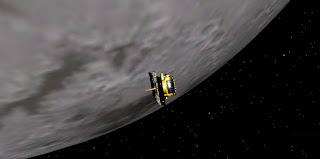 grail-b on orbit the moon