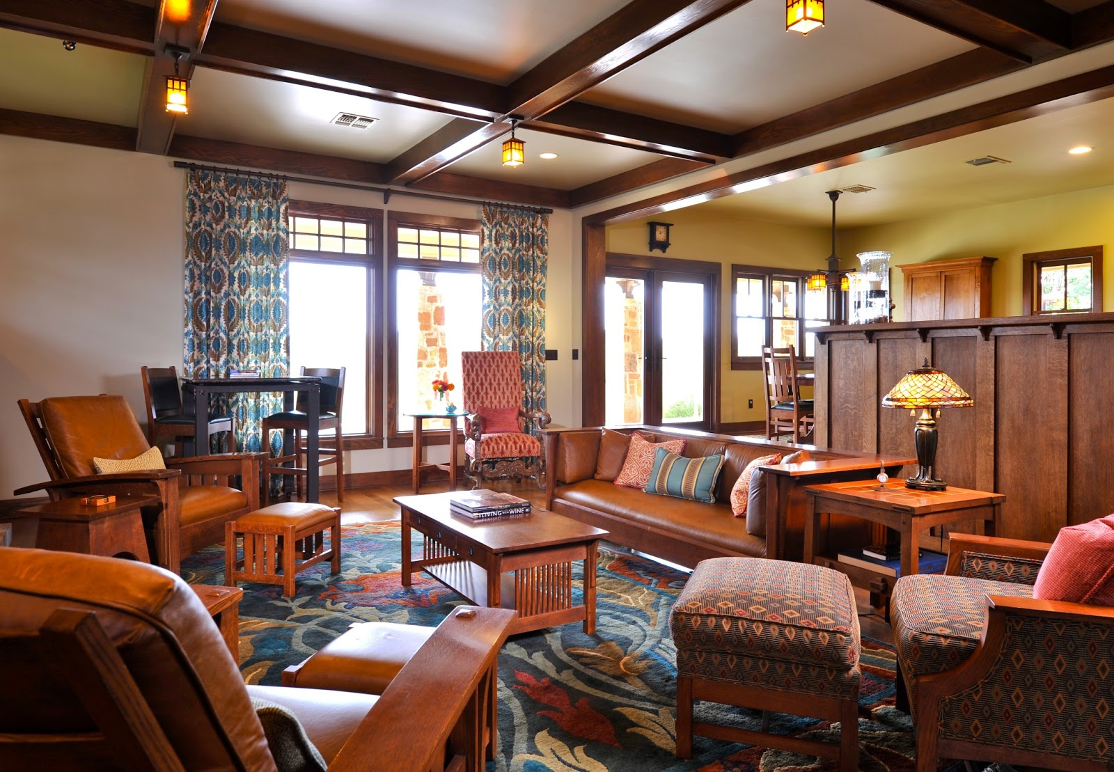 Arts And Crafts Style Homes Interior Design Living Room