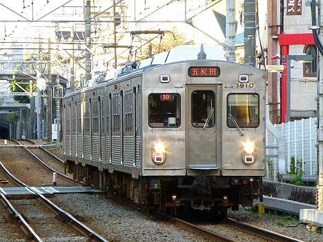 東京急行電鉄池上線 五反田行き1 7700系7910F