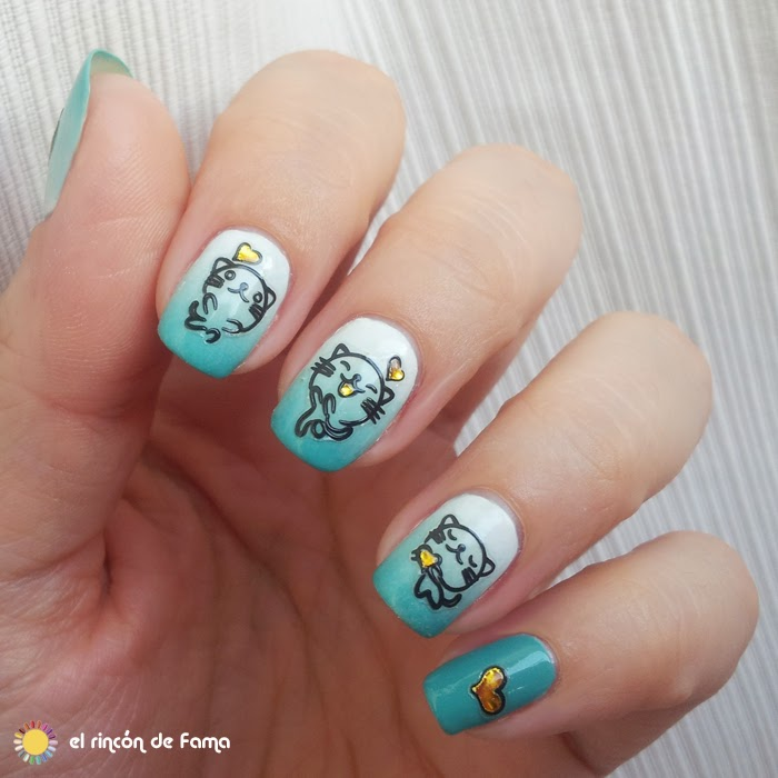 CUTE CATS STICKERS NAIL ART