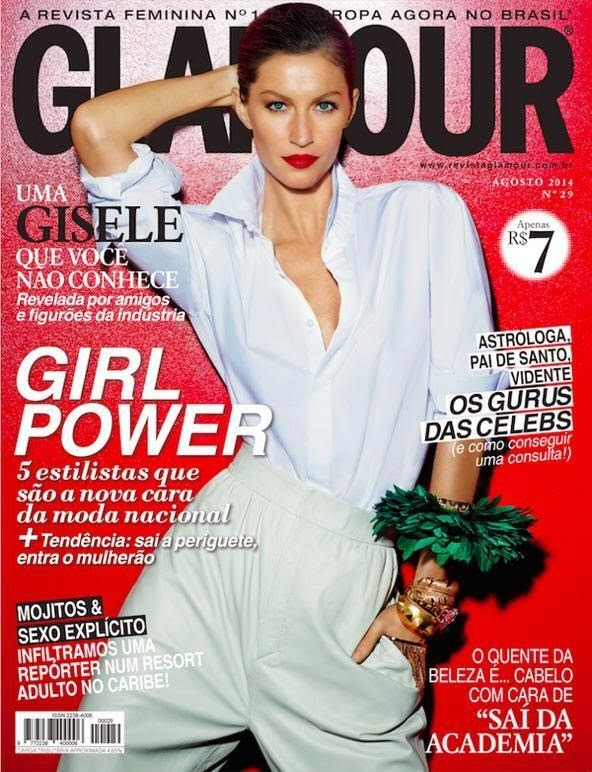 Gisele Bundchen is red hot for Glamour Brazil's August 2014 cover