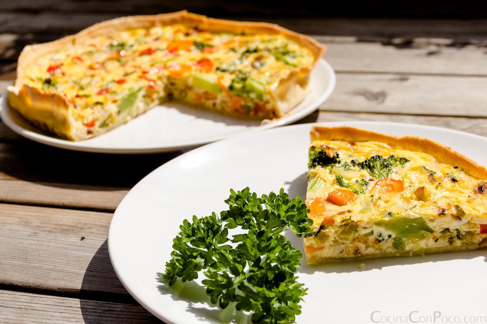 La cocina facil quiche de verduras sin gluten for Quiche de verduras facil