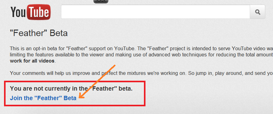 youtube+feather+beta