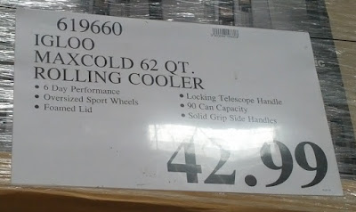 Deal for the Igloo Maxcold Rolling Cooler at Costco