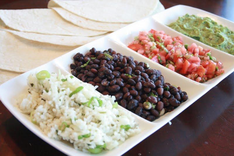 ... burritos: Black Beans, Cilantro Lime Rice, Pico de Gallo & Guacamole
