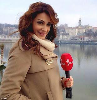 Katarina Sreckovic, Presenter Bola Seksi Yang Terkena Kartu Merah