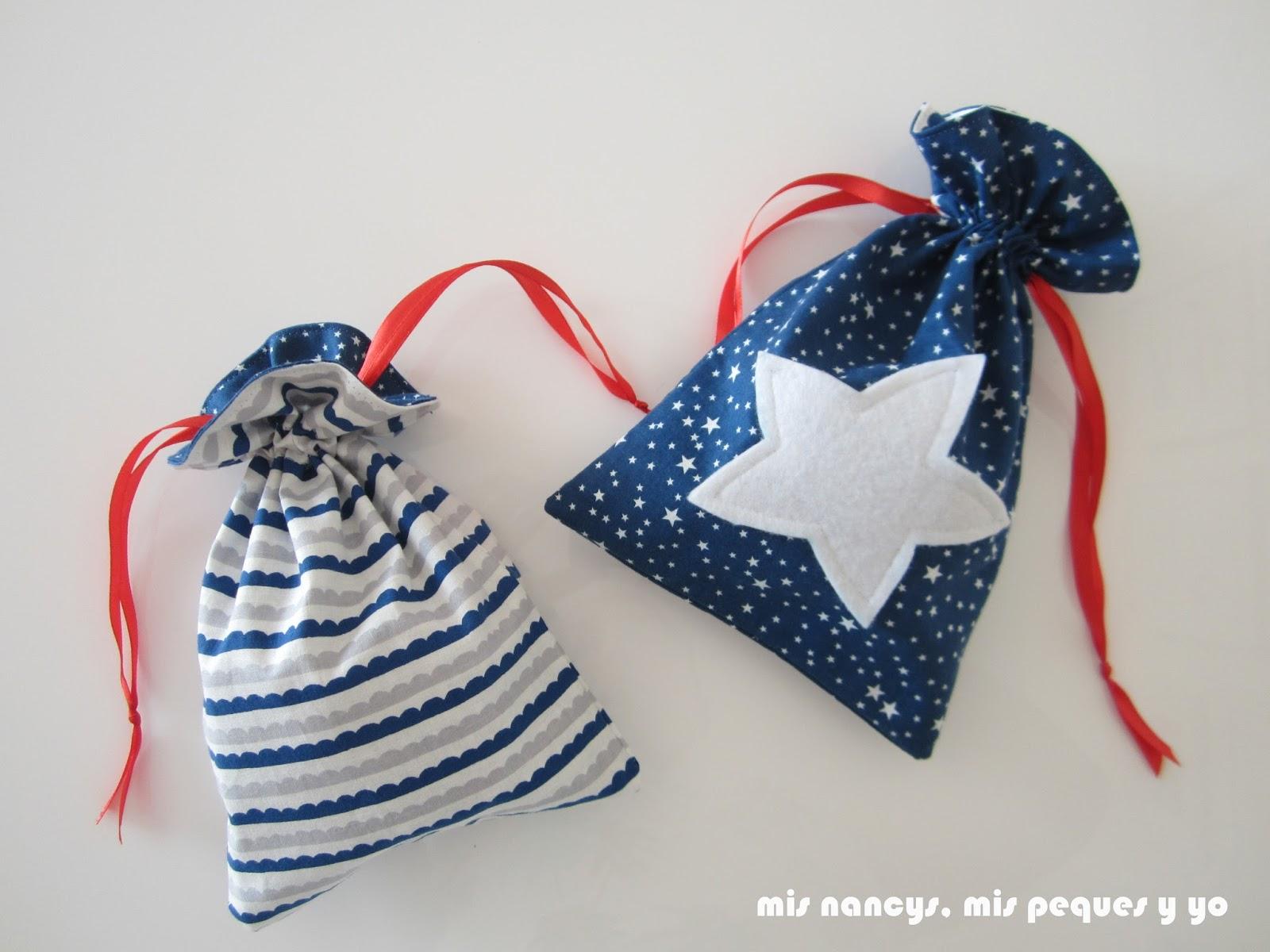mis nancys, mis peques y yo, tutorial bolsitas de Navidad reversibles, bolsas para regalar