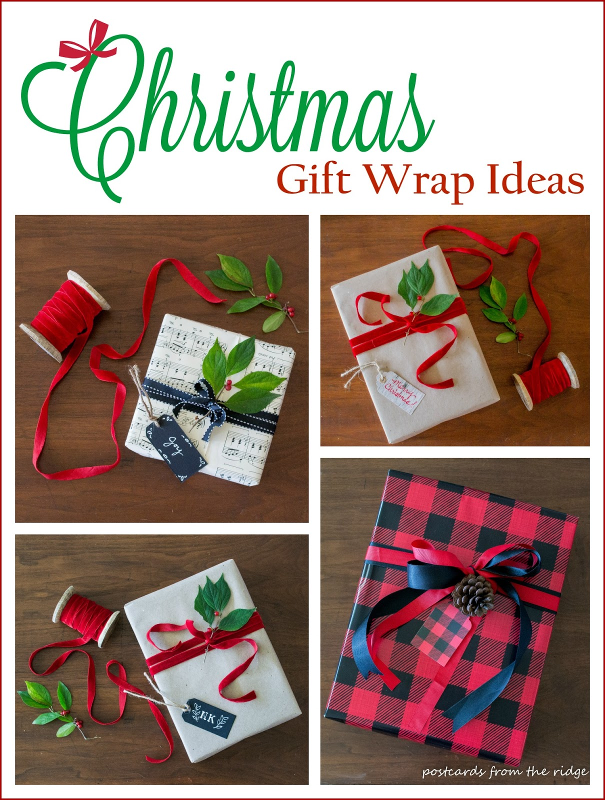 Creative gift wrap ideas postcards from the ridge for Creative xmas gifts