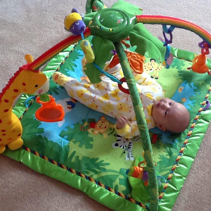 Freddie on his play mat