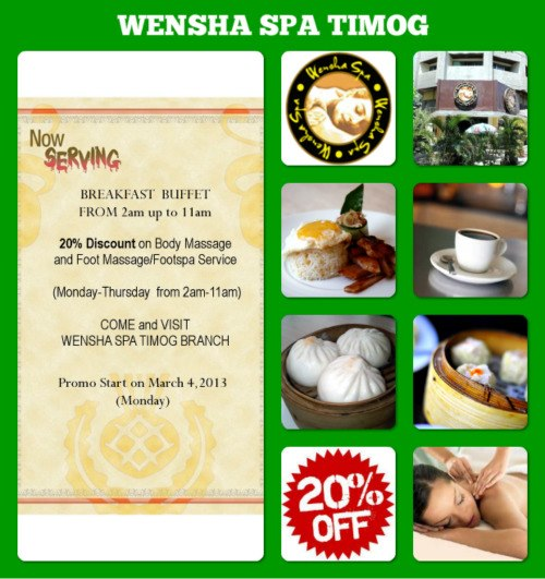 Wensha Spa Timog Price