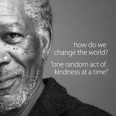 How do we change the world? With one act of random kindness at a time (ARK)