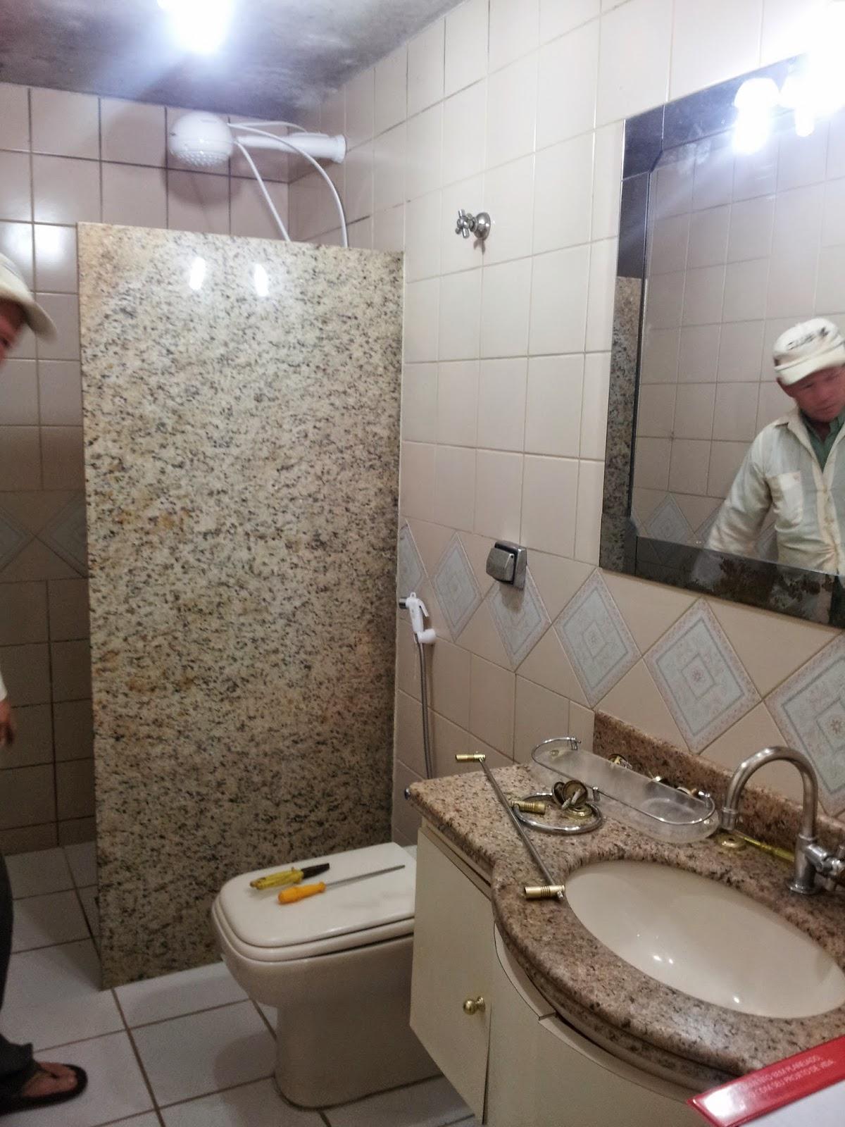 Clara Castilho: BANHEIRO REPAGINADO #495782 1200x1600 Bancada Banheiro Concreto