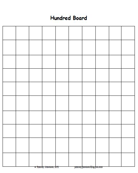 Common Worksheets » Blank 100 Chart Printable Preschool - 483x605 ...
