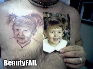 failed tattoo: ugly little girl