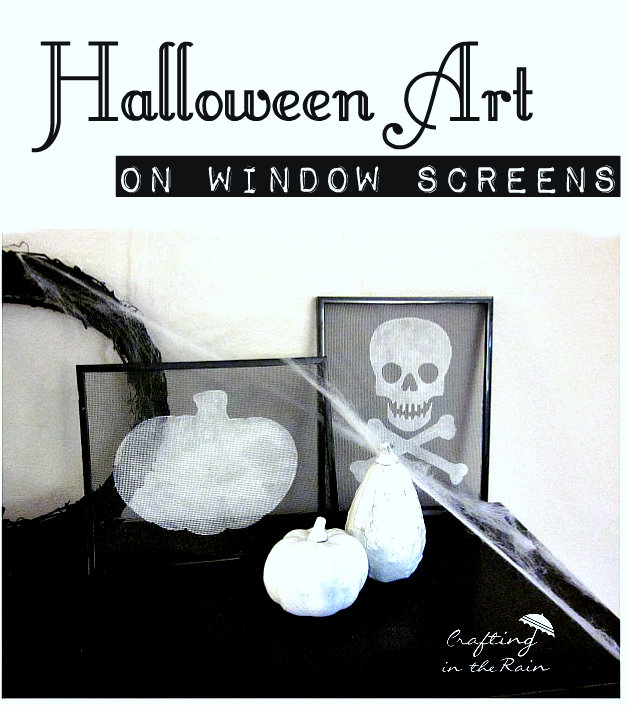 halloween images on window screen