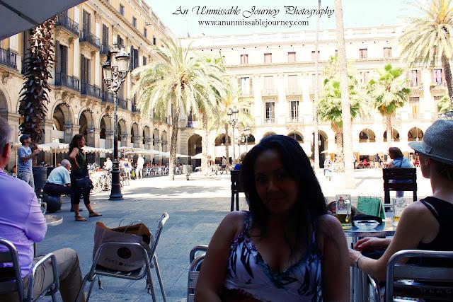 Placa Reial Barri Gotic Barcelona