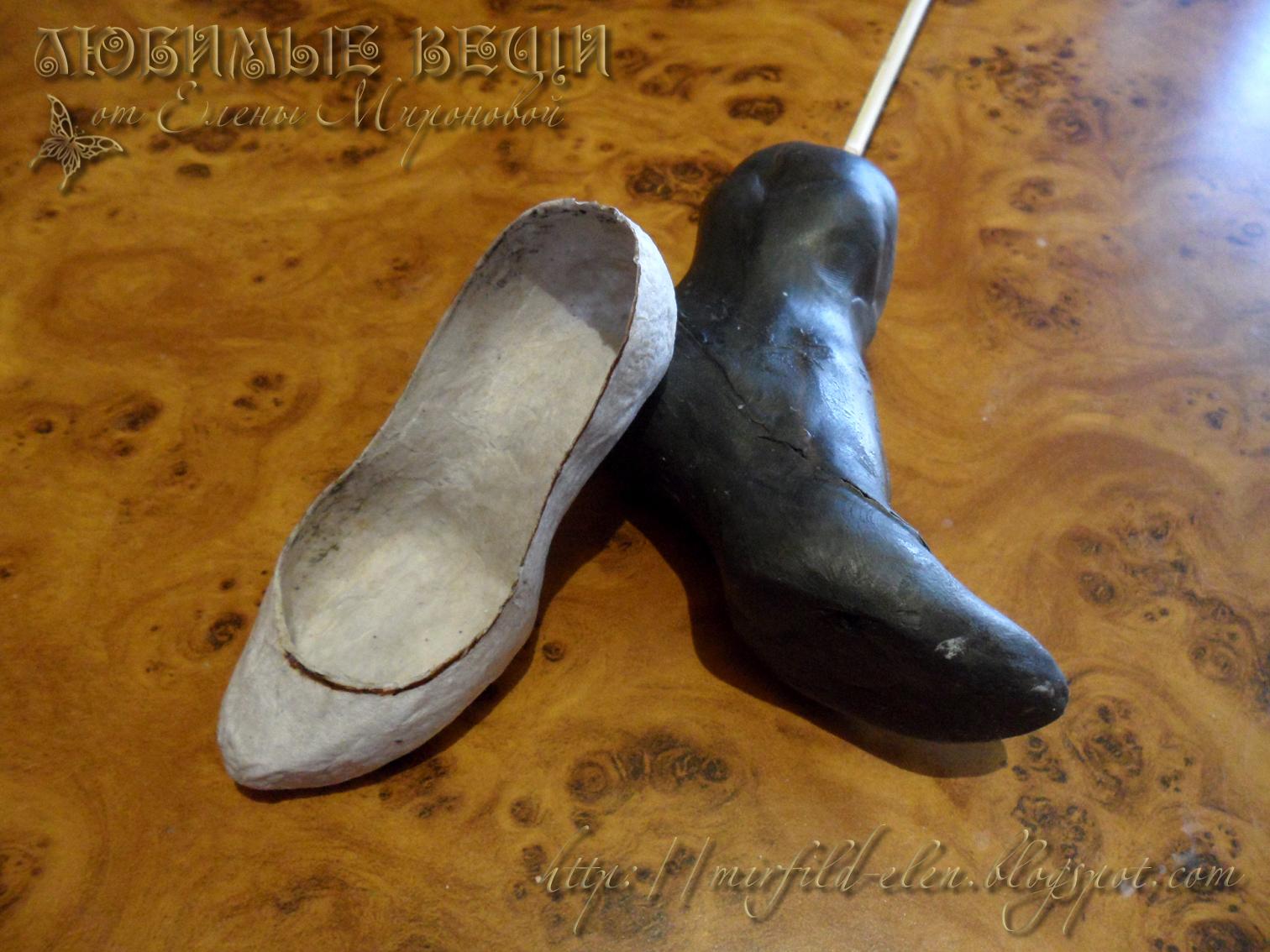 Туфли из пластилина 2