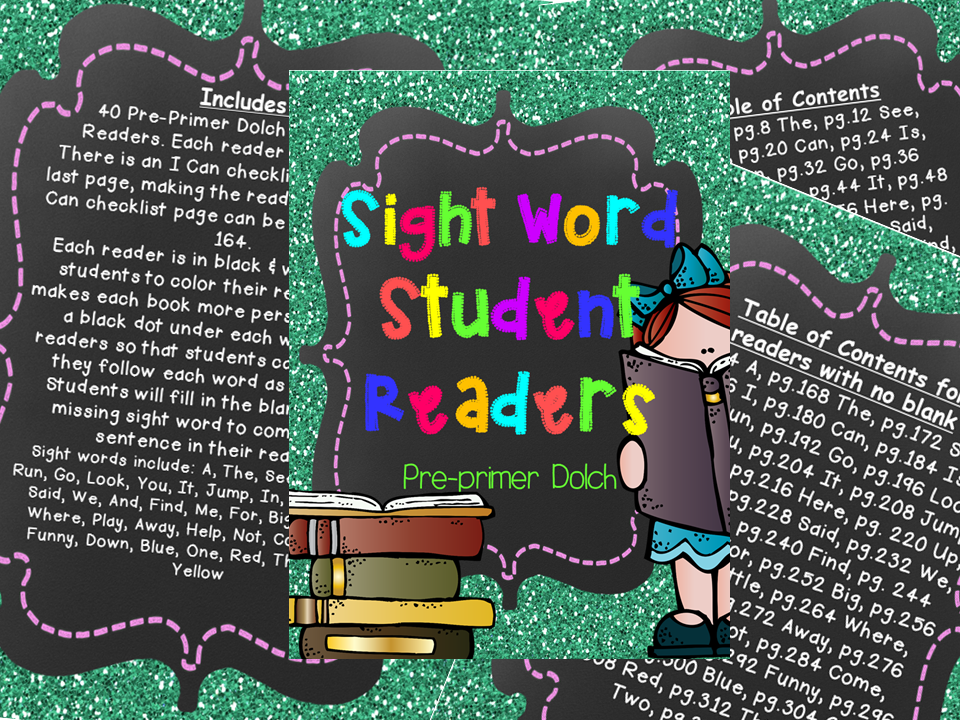 http://www.teacherspayteachers.com/Product/Sight-Word-Readers-PrePrimer-Dolch-611127