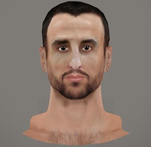NBA 2K14 Manu Ginóbili Face Mod