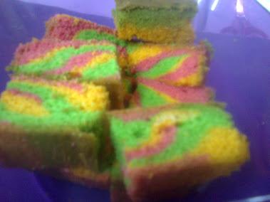Cake Marble Pelangi