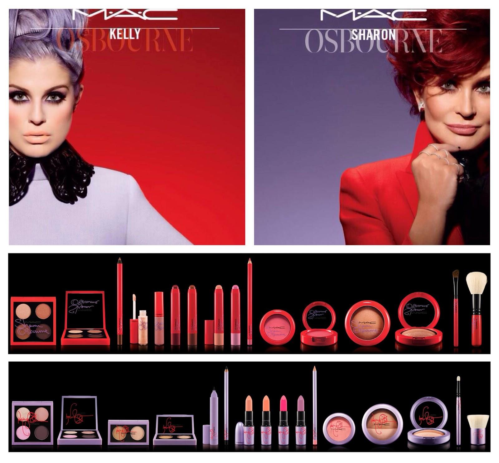 Coleção Sharon e Kelly Osbourne para MAC