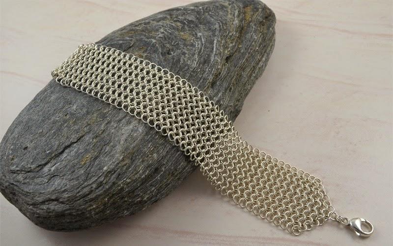 Argentium Sterling Silver Mesh Bracelet