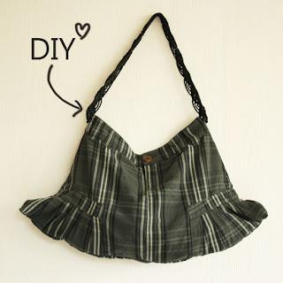 Reciclatex Cómo convertir una falda en un bolso