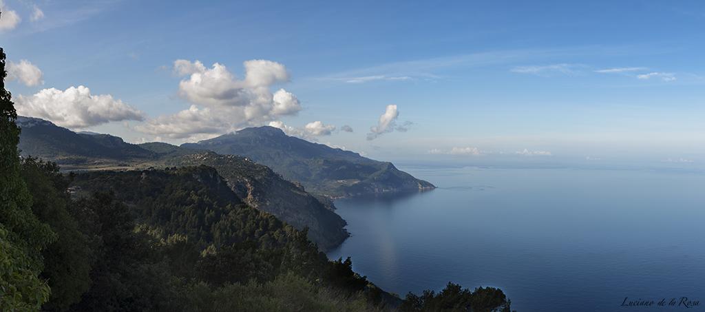 Costa de Valldemosa y Banyalburar vista desde el mirador de la ermita de Valldemossa
