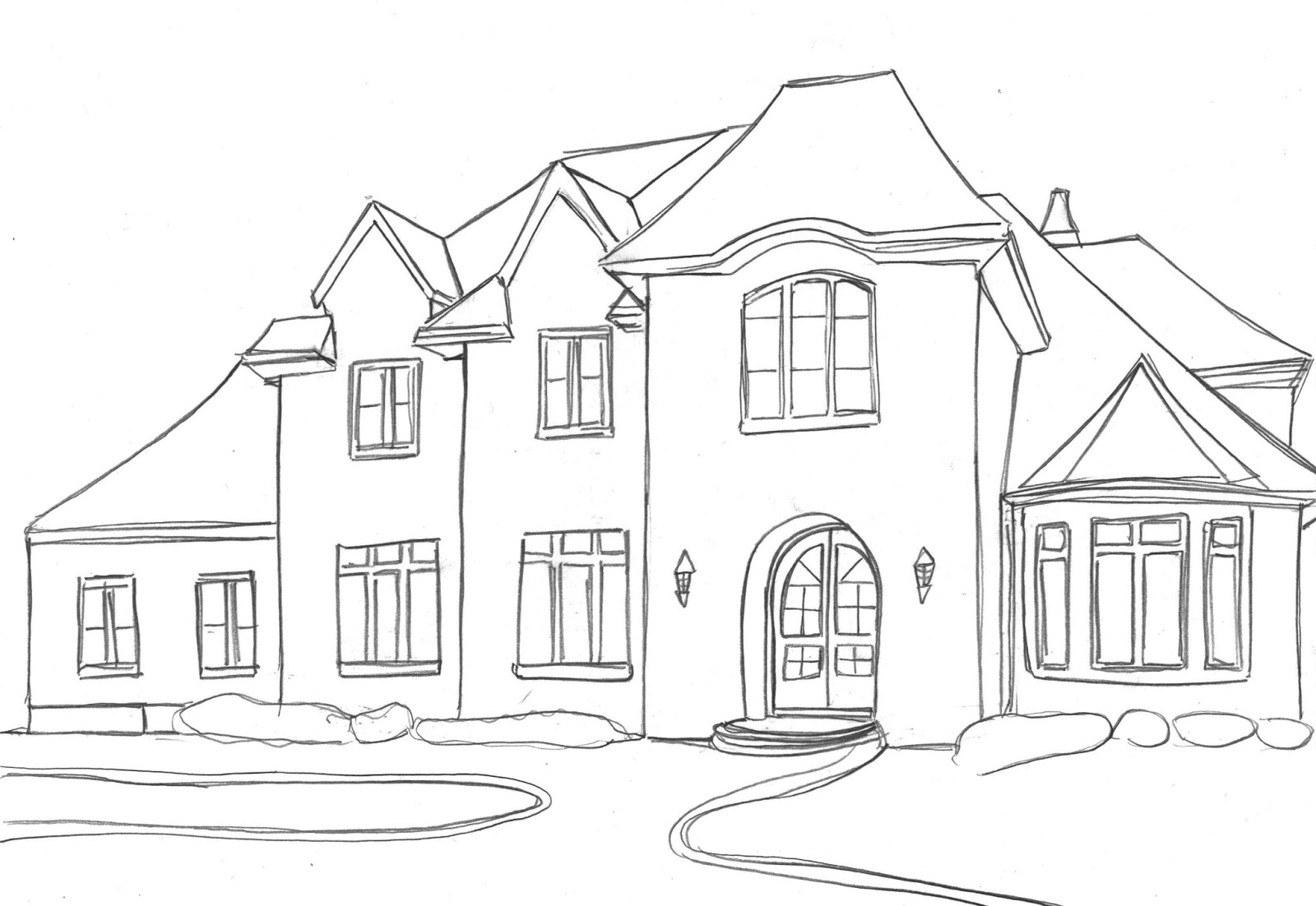 House drawings easy kb jpeg house drawing