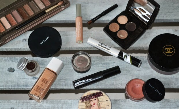 daily-face-make-up-naked-2-palette-hd-brows-bobbi-brown-brow-drama-revlon-nearly-naked-foundation