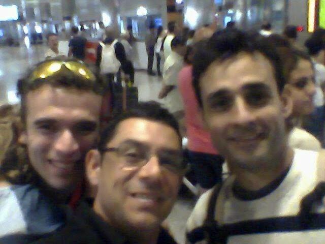 (foto con los compis de vuelo marchadores David Pueyo y Jose Perales)