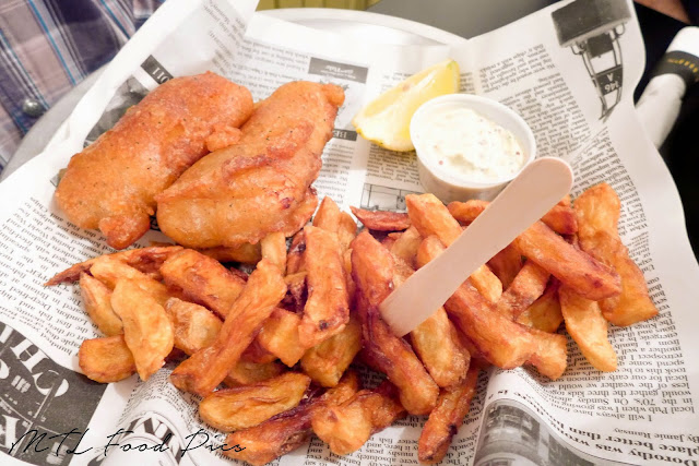 Cod with Burgundy Batter - Fish n' Chips
