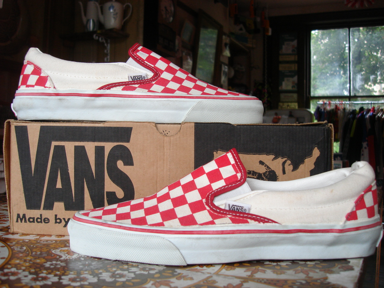 Theothersideofthepillow Vintage Vans Red White