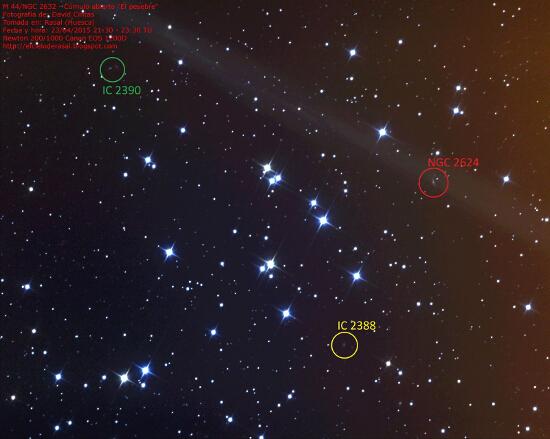 Cumulo abierto El pesebre - M 44 y Galaxias varias - El cielo de Rasal