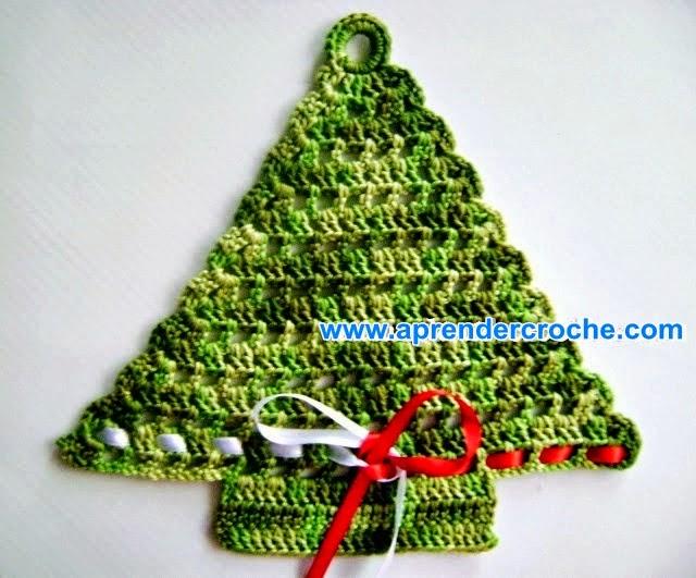 arvore natal croche verde fitas cetim dvd aprender croche com edinir-croche loja curso frete gratis croche receita