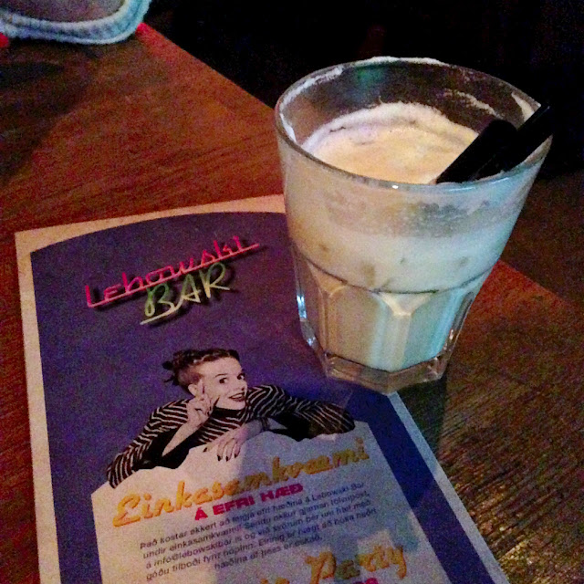My first ever White Russian at Lebowski in Reykjavik
