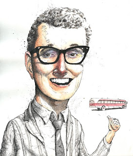 buddy_holly_portrait_image_illustration_tour_bus_glasses_ink_watercolor